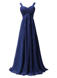 Ikerenwedding Women's Straps Ruched Chiffon Long Formal Evening Prom Dresses Deep Blue US10 Ikerenwedding http://www.amazon.com/dp/B0140FFEG0/ref=cm_sw_r_pi_dp_mIr1vb0EB2DNP