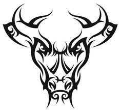 Nr47 TRIBAL TATTOO BULL HEAD DECAL VINYL STICKER LAPTOP WALL HOOD TRUCK CAR Taurus