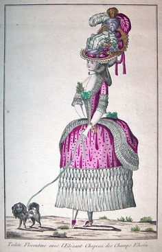 French Fashion Plate, 18th C. 300ppi, 2x3""