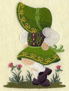 Irish Dancer Sunbonnet Sue.     $6.25, via Etsy.