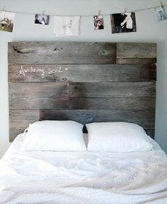 """Awake my soul"" wooden headboard."