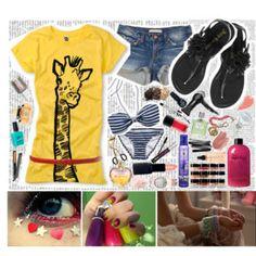 cute giraffe shirt!