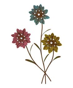 Take a look at this Glittering Blooms Wall Art by Backyard Oasis Boutique on #zulily today!