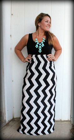 Always In Style Chevron Maxi Dress | Full length skirts