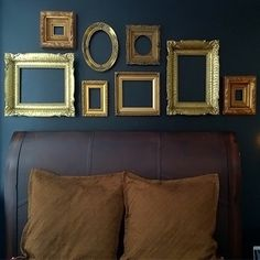 DIY Wall Decor-Empty picture frames as #wall #art | Pinterest Most Wanted