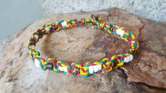 Check out this item in my Etsy shop https://www.etsy.com/listing/489983684/rasta-hemp-anklet-puka-shell-anklet