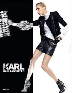 Anja Rubik, Saskia de Brauw, Sui He & Baptiste Giabiconi for KARL Fall Winter 2012.13