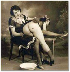 vintage over the knee spanking