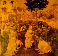 Leonardo da Vinci(1479ー1481)「The Adoration of the Magi」