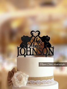 Wedding cake topper with little elephants. Bride and groom Cake topper. Custom cake topper. Silhouette topper. Personalized topper. Bride and Groom cake topper. Made from best natural wood perfect topper for any rustic wedding cake. Mr and Mrs Topper makes a wonderful memento of