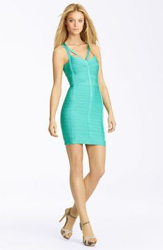 Herve Leger Cutout Bandage Dress available at #Nordstrom
