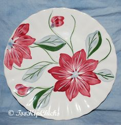 Your place to buy and sell all things handmade Thrown Pottery, Blue China, Vintage Holiday, Blue Ridge, Poinsettia, Trays, Green And Grey, Glaze, Household