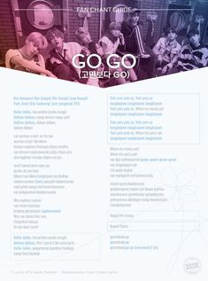 """bts go go fanchant"" Bts Song Lyrics, Pop Lyrics, Bts Lyrics Quotes, Music Lyrics, K Pop, Bts Army Logo, Frases Bts, Bts Wallpaper Lyrics, Bts Playlist"