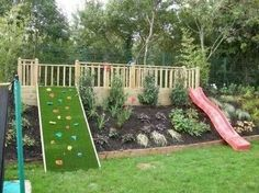 Garden with slides. ..what a great idea! !