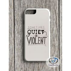 Twenty One Pilots Quiet Is Violent For iPhone 4 5/5s 5c 6/6s 6+/6+s... ❤ liked on Polyvore featuring accessories, tech accessories, leather ipad case, apple ipad leather case, ipad sleeve case, ipad cases and apple ipad case