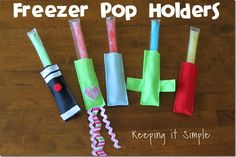 Freezer Pop Holders - This summer craft idea is genius! Say goodbye to frozen fingers with this sewing pattern. You can make a bunch and add embellishments.