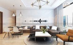 Ảnh 01: Thiết kế nội thất phòng khách - chung cư royal city