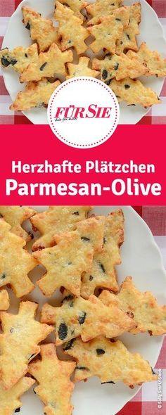 Rezept für herzhafte Plätzchen Parmesan-Olive