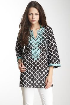 Ally Print Sequin Tunic by Sulu Collection