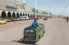 Madeira Drive at Brighton East Sussex England in the Brighton Sussex, Brighton And Hove, East Sussex, South East England, Skinhead, Public Transport, Old Pictures, Buses, United Kingdom
