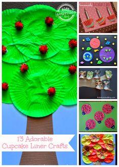 13 {Adorable} Cupcake Liner Crafts - Kids Activities Blog
