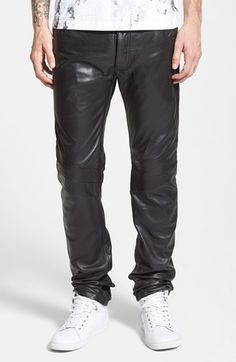 LaMarque Straight Leg Lambskin Leather Pants available at #Nordstrom