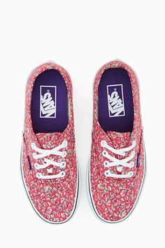 Vans X Liberty London Authentic Sneaker - Leaves