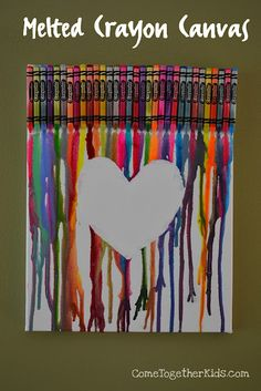 A cute twist on the melted crayon art.
