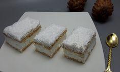 Prajitura Fulg de nea Din albusuri Romanian Food, Something Sweet, Just Desserts, Coco, Vanilla Cake, Chocolate Cake, Feta, Cookie Recipes, Caramel
