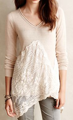 beautiful lacy pullover #anthrofave  http://rstyle.me/n/r5yiipdpe