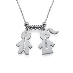 Mothers Day Jewelry - Necklace with Kids Charms