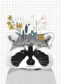 Fox Ours Chat Chaton Lapin Raton Laveur Art Oreiller Cadeau Animal Sauvage housses de coussin