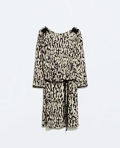 Image 7 of ANIMAL PRINT ZIP DRESS from Zara