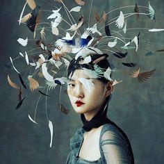 ... Говорят , творчество там , где нет целей и поводов .. 🕊🍃🕊🍃 #птицывголове #простокрасиво