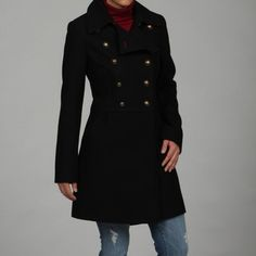 @Overstock - Adorable Military Inspired Wool Coat From Tommy Hilfiger.http://www.overstock.com/Clothing-Shoes/Tommy-Hilfiger-Wool-Double-breasted-Military-Coat/6330863/product.html?CID=214117 CAD              136.20