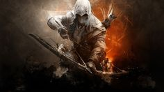 wallpaper assassins creed 3 connor, backgrounds assassins creed 3 connor