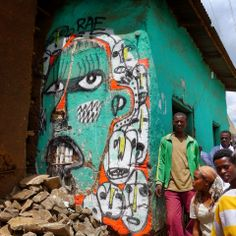 RAE  - Hossana, Ethiopia  Brooklyn, NY street artist RAE is currently in Ethiopia working on a project to raise funds for the newly built Alemu Woldehanna Community Library in the town of Hossana. RAE is painting murals and outside, teaching local school kids how to make sculptures out of recycled materials as well as having a small exhibition inside the home of a family he met in Hossana.