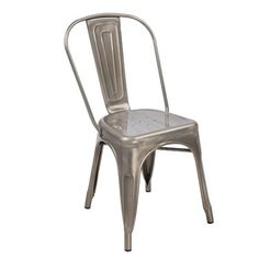 Industrial metal tabouret dining chairs