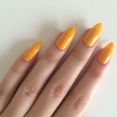 Gloss yellow stiletto nails, hand painted acrylic nails, fake nails,… R… – Nail Yellow Nails, Pink Nails, Acrylic Nails Yellow, Red Nail, Nail Gloss, Painted Acrylic Nails, Stick On Nails, Nagel Hacks, Nail Treatment