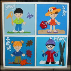 http://www.creativexpress.com  Seasonal Childrens Wall Art featuring Cricut Everyday Paper Dolls