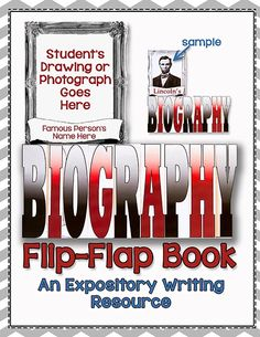 Are you teaching about BIOGRAPHIES in your classroom?  Let your students have some F.U.N. as they present their Biography Report in this Fresh and Funky Interactive Flip-Flap Book!$