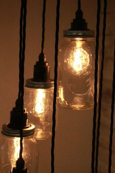 Improve Your Fitness With These Effective Tips Mason Jar Pendant Light, Mason Jar Lighting, Mason Jar Lamp, Industrial Clothes Rail, Urban Industrial, Ceiling Rose, Ceiling Lamp, Mason Jar Picture, Ball Jars