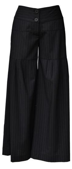 T.E.T Pants Funky Pants, Linen Pants, Skirt Pants, Japanese Fashion, Fashion Pants, Modest Fashion, Stylish Outfits, Casual Chic, Designer Dresses