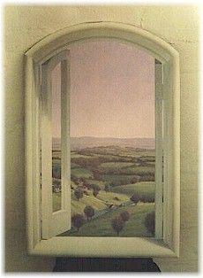 Trompe L'oeil mural - An English Window