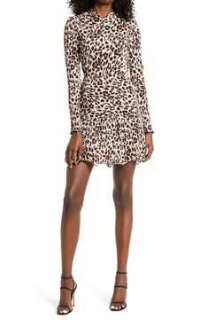 A Line Skirts, Mini Skirts, Mini Dresses, Leopard Outfits, Leopard Clothes, Casual Day Dresses, Pleated Fabric, Mesh Skirt, A Line Gown