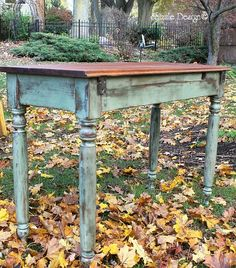 chalk painted furniture ideas | Rustic Country Farm Table w/ Tips on Waxing — Shizzle Design