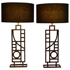 Pair of Post Modern Table Lamps by Sonneman for George Kovacs | 1stdibs.com