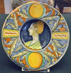 Coppa d'amore (cup of love) ~ Maiolica ~ Castel Durante, Province of Pesaro e Urbino in the Italian region of Marche ~ 1530-1540 ~ Museum für Angewandte Kunst, Frankfurt