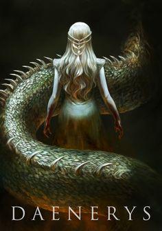 Mother of Dragons, Anna Gladkovska on ArtStation at https://www.artstation.com/artwork/13JoX