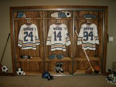 Hockey Theme Mural Hockey Lockers and Room